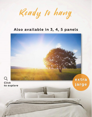 Nature landscape with Tree Canvas Wall Art