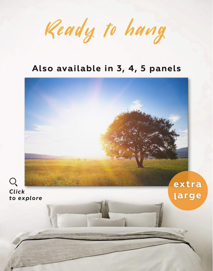Nature landscape with Tree Canvas Wall Art - Image 0