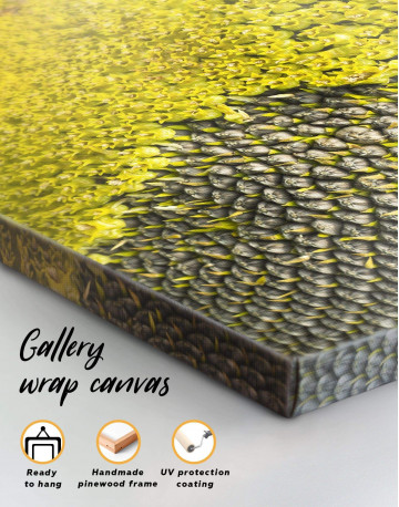 Yellow Sunflower Canvas Wall Art - image 1