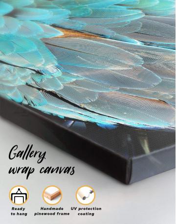 Blue Bird's Feather Canvas Wall Art - image 3
