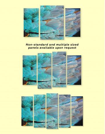 Blue Bird's Feather Canvas Wall Art - image 1