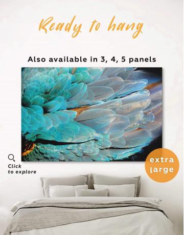 Blue Bird's Feather Canvas Wall Art