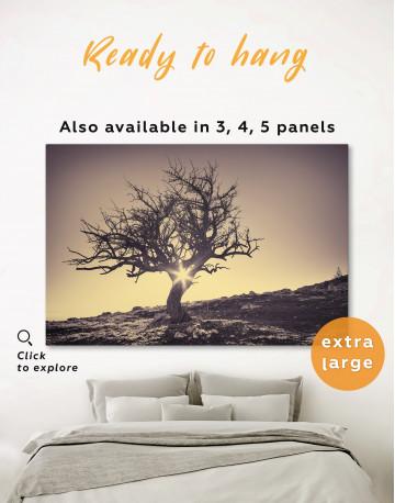 Lonely Tree on Horizon Canvas Wall Art