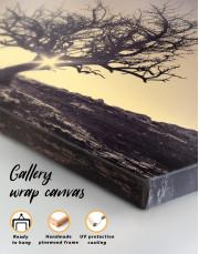 Lonely Tree on Horizon Canvas Wall Art - Image 1