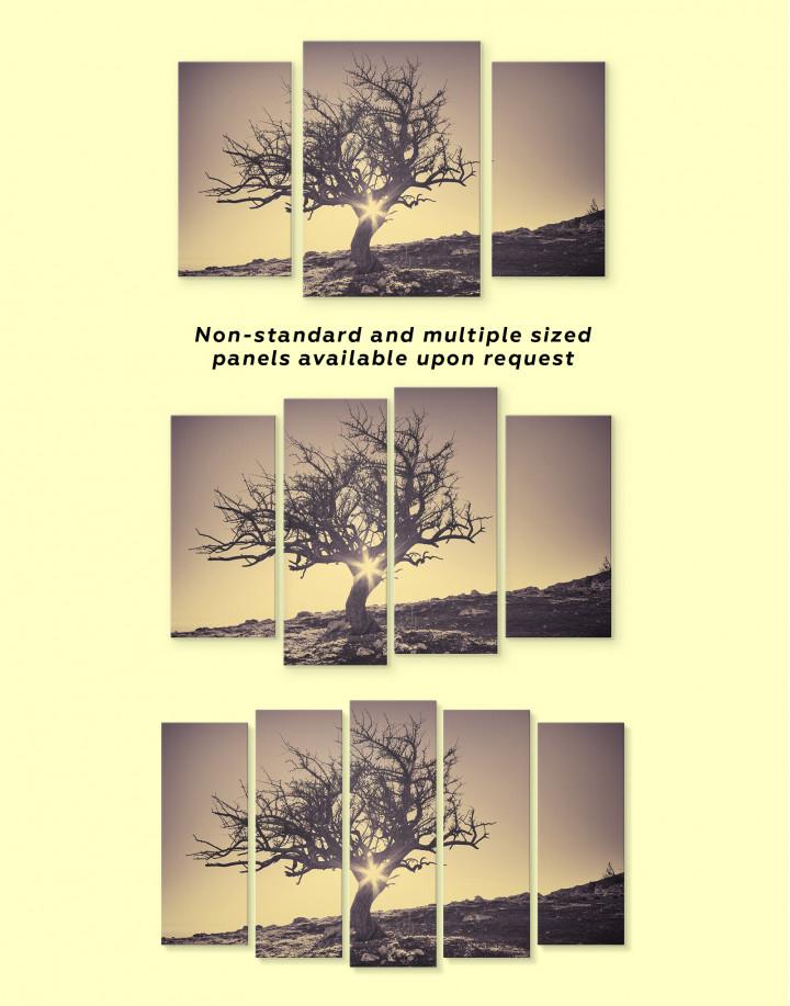 Lonely Tree on Horizon Canvas Wall Art - Image 2