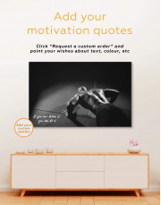 Black and White Home Gym Canvas Wall Art - Image 4