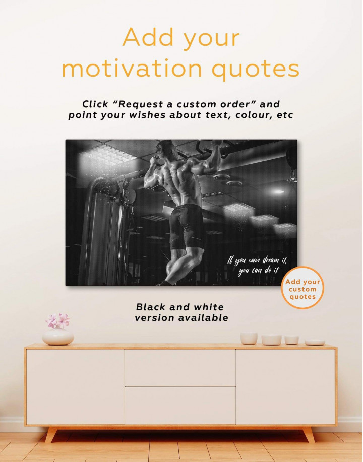 Working Out Man Canvas Wall Art - Image 1