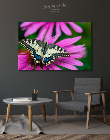 Old World Swallowtail Butterfly Canvas Wall Art - image 1