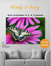 Old World Swallowtail Butterfly Canvas Wall Art - Image 2
