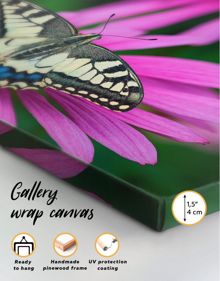 Old World Swallowtail Butterfly Canvas Wall Art - Image 4