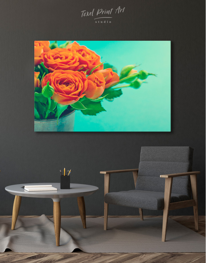 Lovely Roses Canvas Wall Art - Image 3
