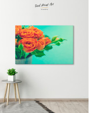 Lovely Roses Canvas Wall Art - Image 1