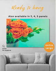 Lovely Roses Canvas Wall Art - Image 8
