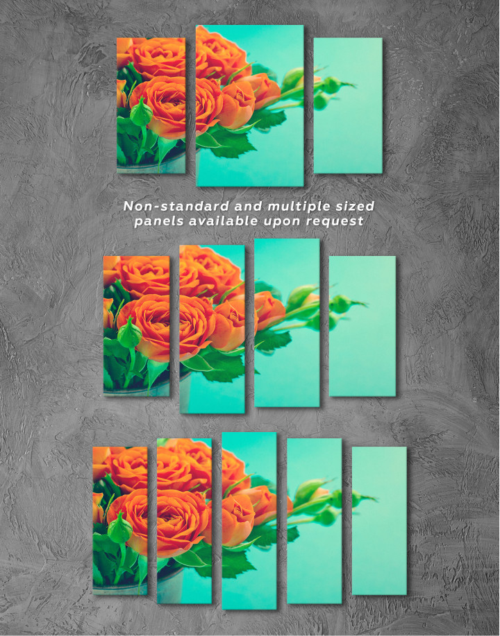 Lovely Roses Canvas Wall Art - Image 6