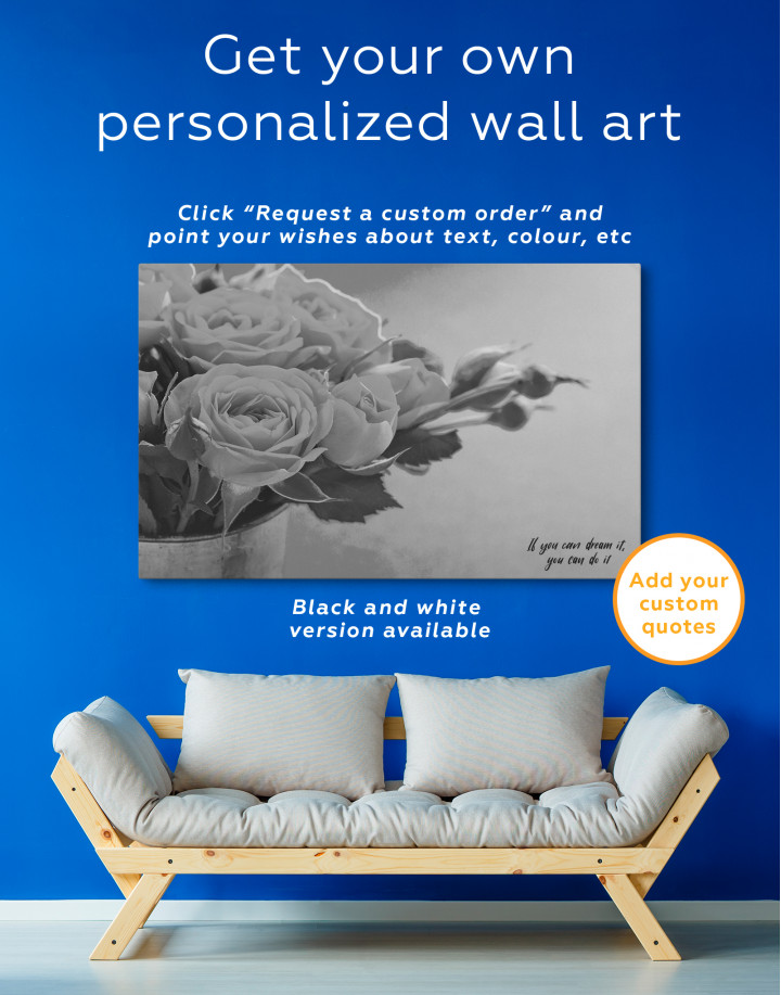 Lovely Roses Canvas Wall Art - Image 7