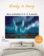 Night Sky Aurora Borealis Canvas Wall Art - Image 0