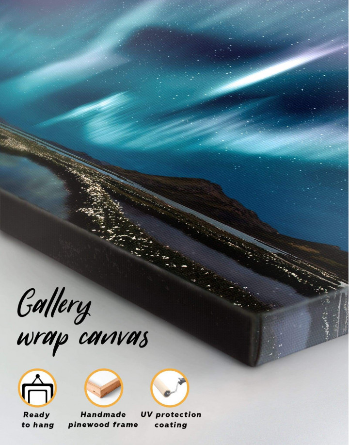 Night Sky Aurora Borealis Canvas Wall Art - Image 4