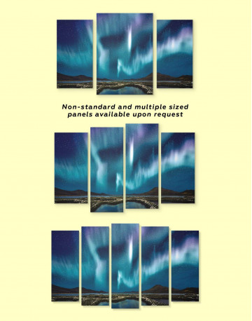 Night Sky Aurora Borealis Canvas Wall Art - image 2