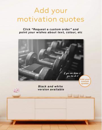 Dumbbells Gym Canvas Wall Art - image 1
