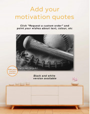 Baseball Bat and Glove Canvas Wall Art - Image 2