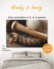 Baseball Bat and Glove Canvas Wall Art - Image 0