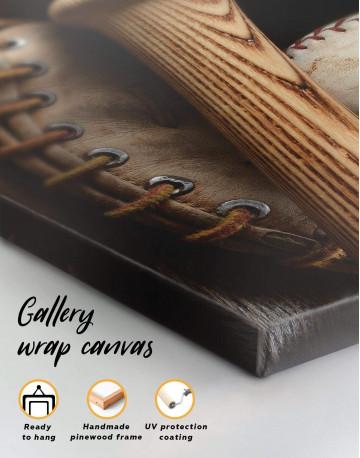 Baseball Bat and Glove Canvas Wall Art - image 5