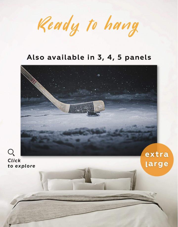 Hockey Stick Canvas Wall Art - Image 0