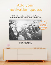 Exercise Bike in Gym Canvas Wall Art - Image 1