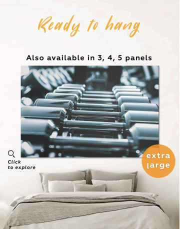 Gym with Dumbbells Canvas Wall Art