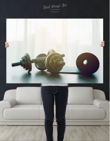 Sports Dumbbells Canvas Wall Art - image 2