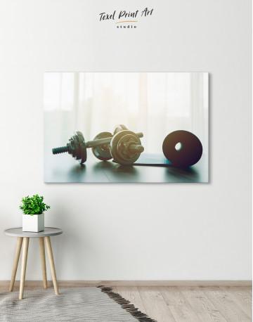 Sports Dumbbells Canvas Wall Art - image 5
