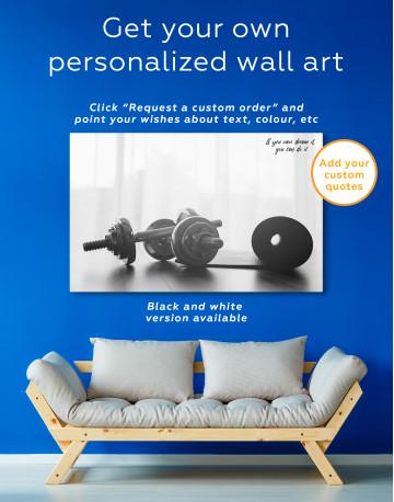 Sports Dumbbells Canvas Wall Art - image 8