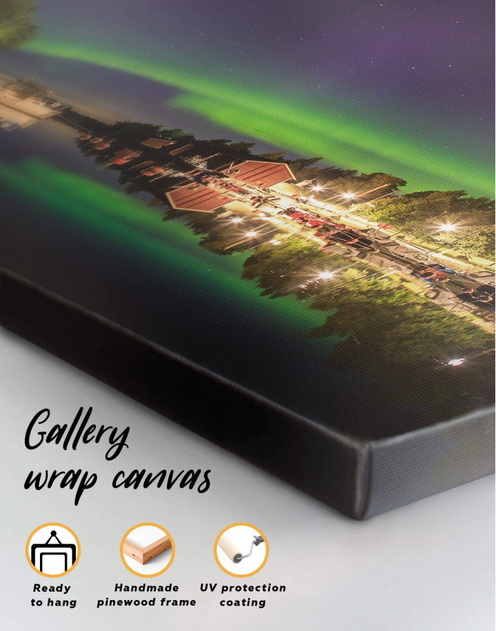 Aurora Borealis View Canvas Wall Art - Image 4