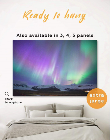 Northern Lights View Canvas Wall Art