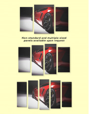 Red Lamborghini Canvas Wall Art - Image 3