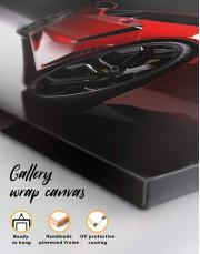 Red Lamborghini Canvas Wall Art - Image 1
