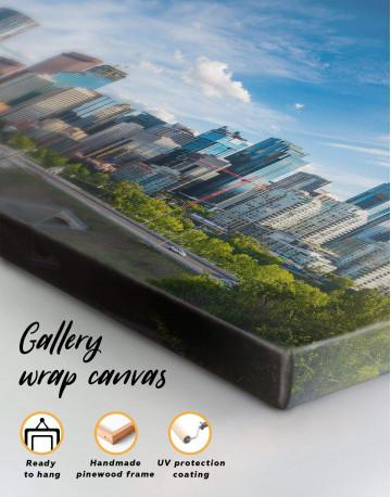 Calgary Skyline Canvas Wall Art - image 4