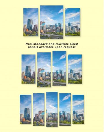 Calgary Skyline Canvas Wall Art - image 2