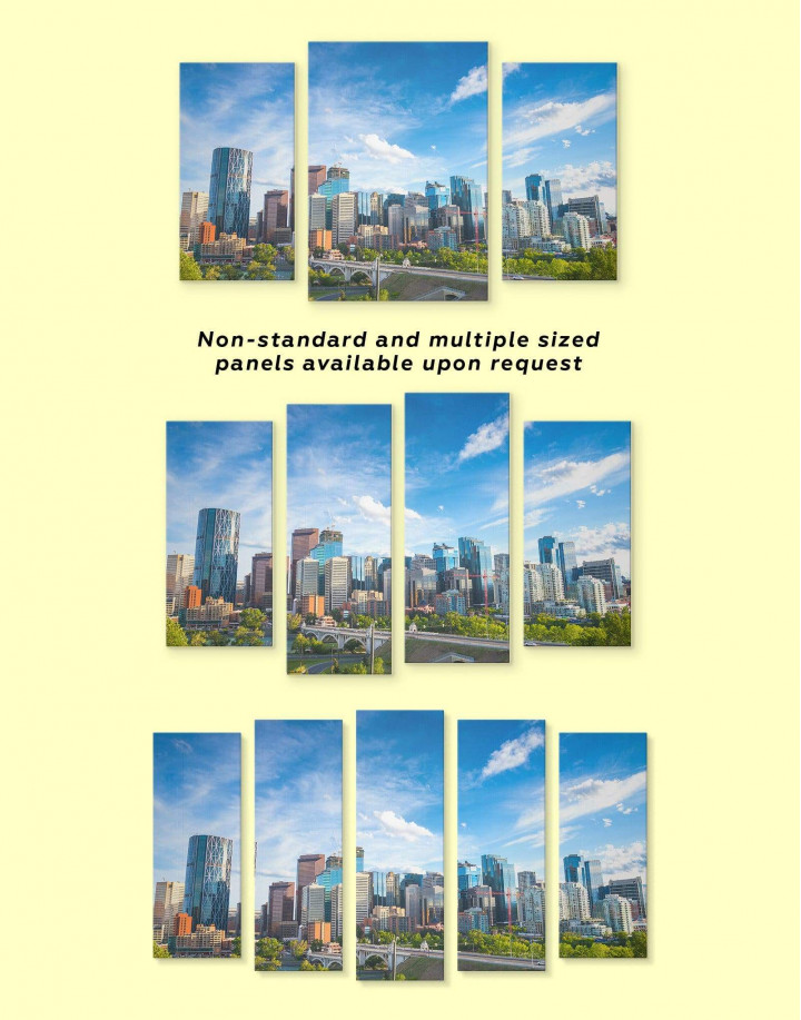 Calgary Skyline Canvas Wall Art - Image 2