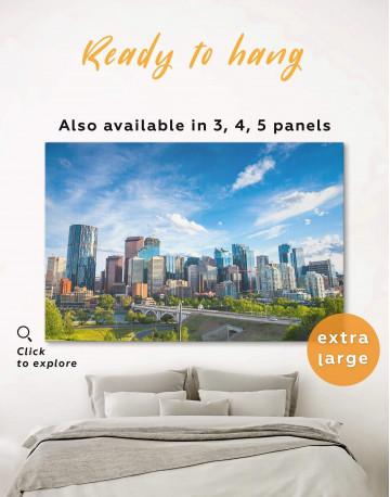 Calgary Skyline Canvas Wall Art