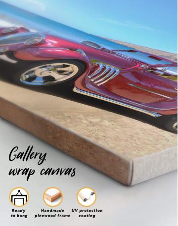 Red Hotrod Car Canvas Wall Art - image 4