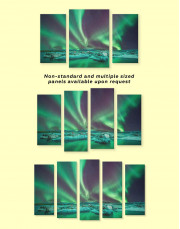 Northern Lights Scene Canvas Wall Art - Image 3