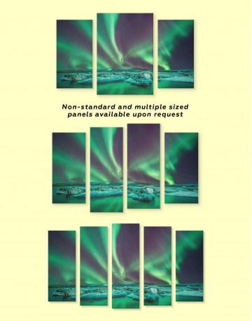 Northern Lights Scene Canvas Wall Art - image 2