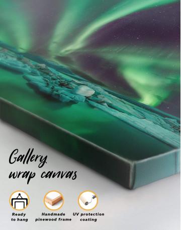 Northern Lights Scene Canvas Wall Art - image 4