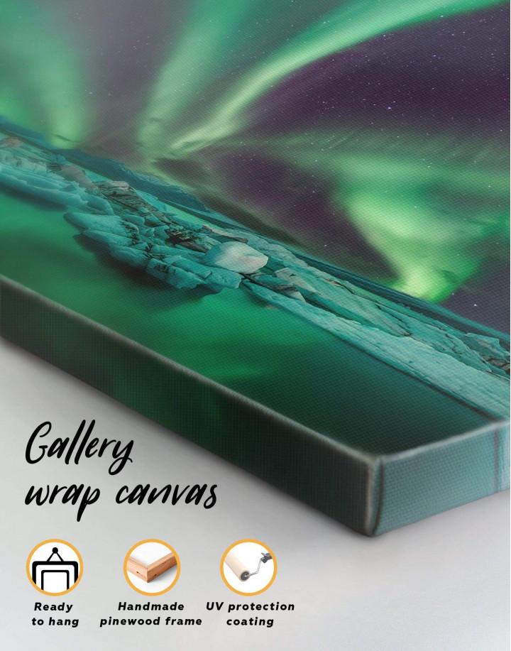 Northern Lights Scene Canvas Wall Art - Image 1