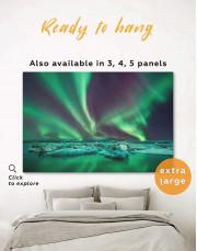 Northern Lights Scene Canvas Wall Art - Image 0