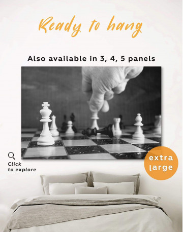Chess Game Canvas Wall Art
