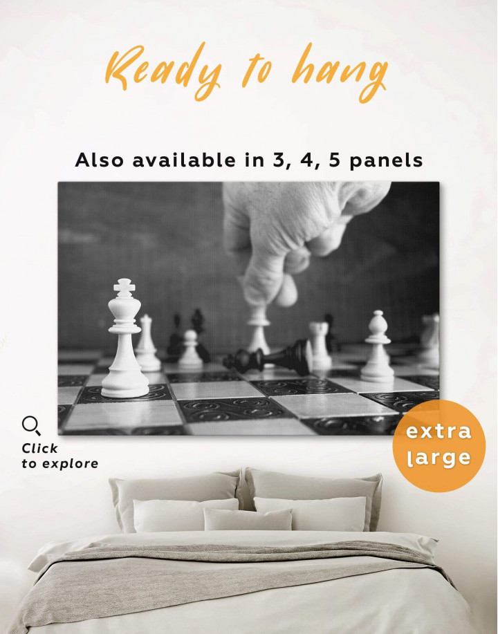 Chess Game Canvas Wall Art - Image 0