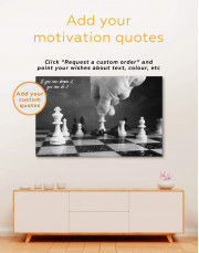 Chess Game Canvas Wall Art - Image 1