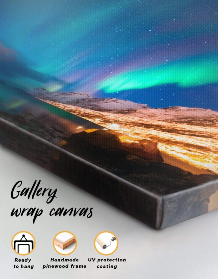 Nordic Northern Lights Scene Canvas Wall Art - Image 3